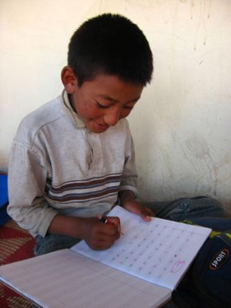 school boy in ladakh