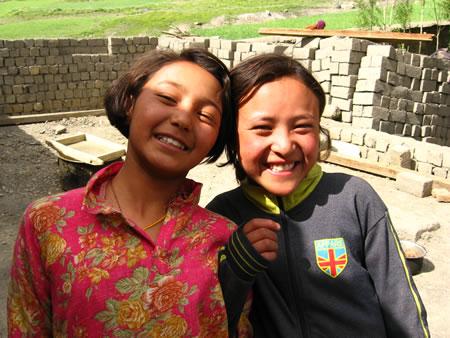 village girls in India