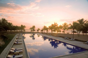 Dreams Tulum pool sunset