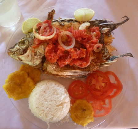 Nicaragua fish lunch