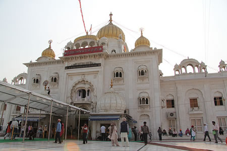 Sikh temple exterior in India