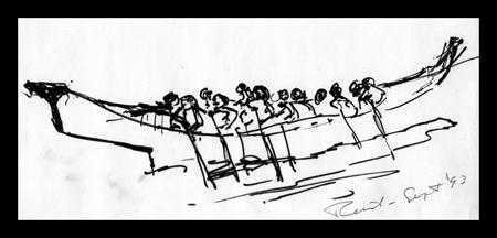 Lootaas Ink Drawing B Reid 1993