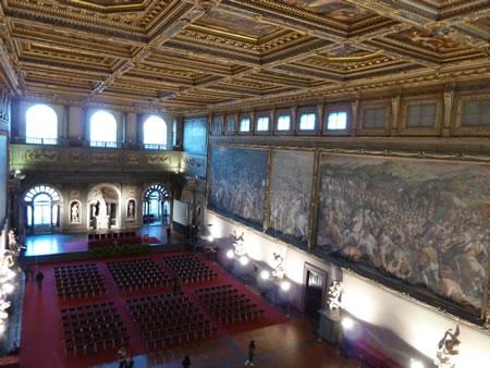 Florence Italy Palazzo Vecchio Vasari Da Vinci fresco