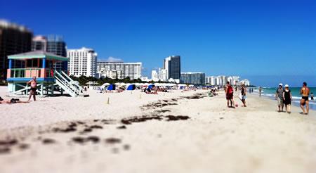 The beach at South Beach