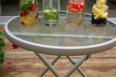 Infused water bottom