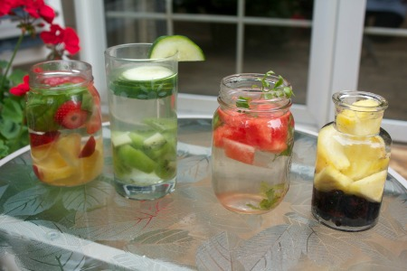 Infused water four ways