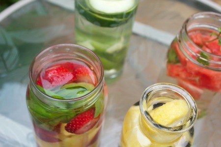 Infused water: 4 ways