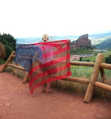 Red Rocks Flag