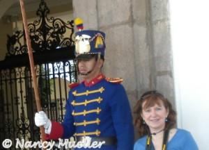 Guard at Palacio de Gobierno