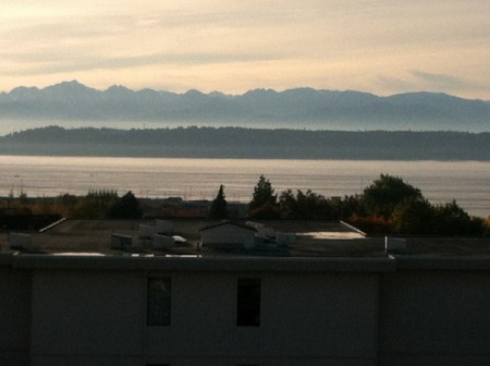 The Olympics and Puget Sound