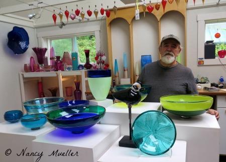 Robert Adamson Island Art Glass Artist