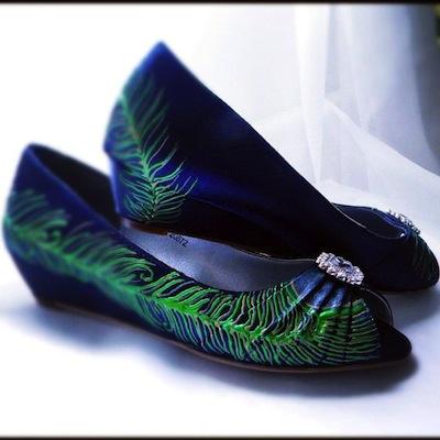 Peacock Wedding Shoes Flats