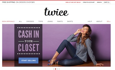 Second Hand Designer Clothing Online Twice resale site