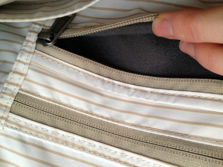 Hyde tote lined pocket
