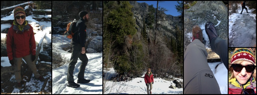 What to wear hiking in the snow