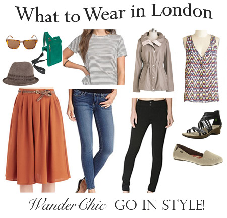 What to Wear in London Collage