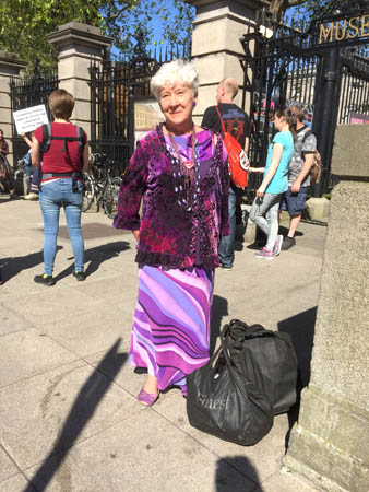 Wearing purple in Dublin