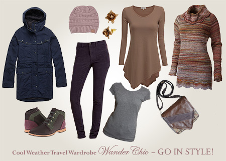 Cool weather travel wardrobe