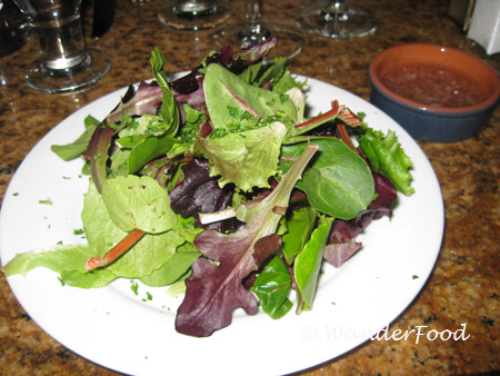 Salad at La cote Creperie