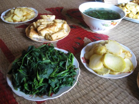 Vietnam Vegetarian Muong Lunch