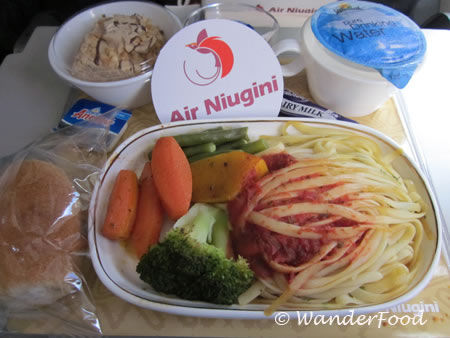 Air Niugini Airline Food Papua New Guinea