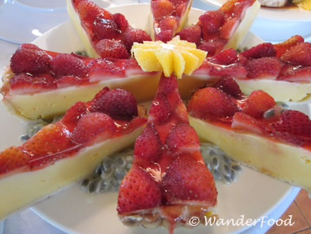 Papua New Guinea's Strawberry Cheesecake