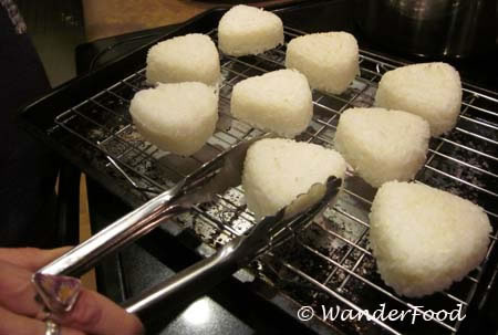 Onigiri under broiler