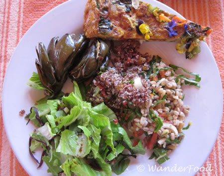 Lunch Plate Cooking School at Rancho la Puerta