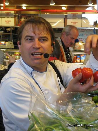 Chef Julian Bond and tomatoes