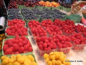 Fresh berries at Granville Island Public Market