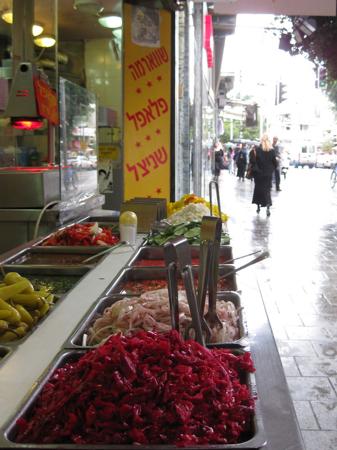 falafel stand, Israel