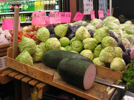 Giant winter melon in Chinatown Supermarket, Vancouver
