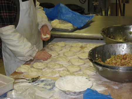 Making steamed buns at Vancouver's Sun Fresh Bakery (Chinatown)