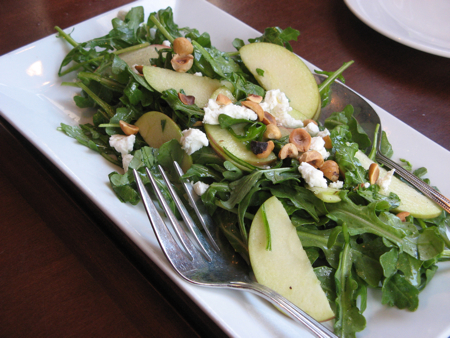 Arugula apple salad, La Bicyclette, Carmel, California