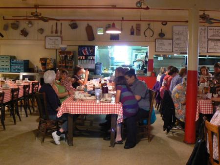 Inside the Samoa Cookhouse, Eureka, California