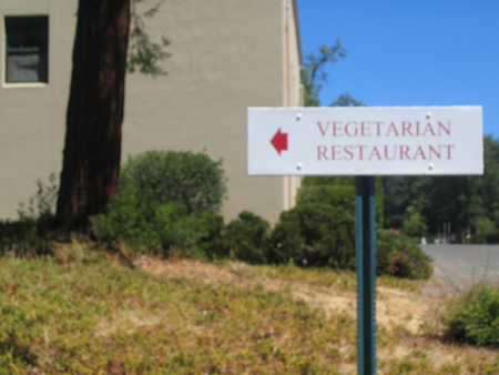 Vegetarian restaurant at Ten Thousand Buddhas Monastery, Ukiah, California