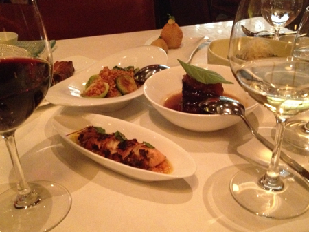 Selections from the Elements menu, West Restaurant, Vancouver