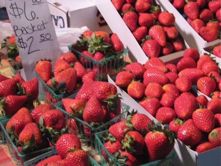 Strawberries at the San Luis Obispo Farmers' Market
