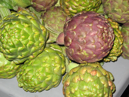 Artichokes at the San Luis Obispo Farmers' Market