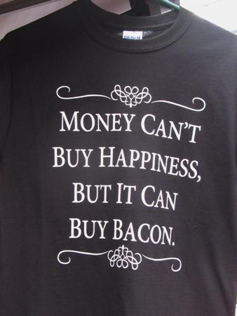 Bacon T-shirt from Johnston's, British Columbia