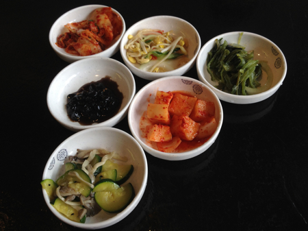 Banchan at Jong Ga Korean Restaurant, Burnaby, BC