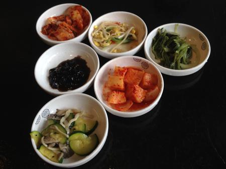 Banchan at Jong Ga Korean Restaurant, Burnaby, BC