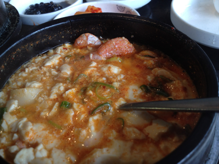 Tofu hot pot at Jong Ga Korean Restaurant, Burnaby, BC