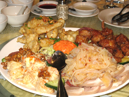Four-fortune Appetizer Platter, Always Seafood Restaurant, Vancouver, BC