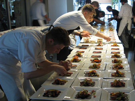 Plating many mystery dishes