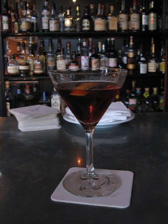 Negroni at the bar, Clyde Common, Portland, OR