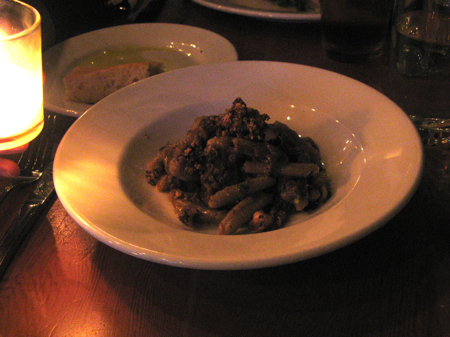 Hazelnut cavatelli with pickled fennel, Clyde Common, Portland, OR