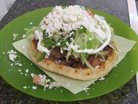 Sope at La Jarochita Mexican Food Cart