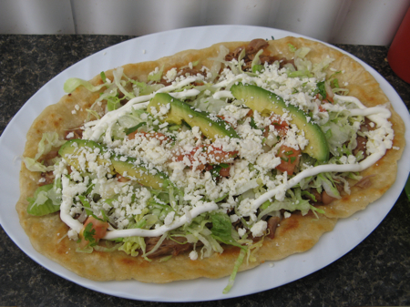 Huarache at La Jarochita Mexican Food Cart