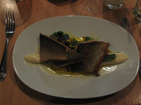 Pan seared golden trout, Aviary, Portland, OR